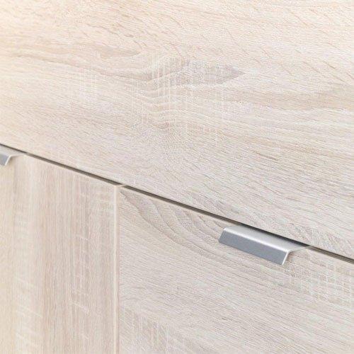 Kommode in Sonoma Trüffel-Nachb., 4 Türen, 1 Schubkasten in Grauspiegel, mit Türdämpfung und Selbsteinzug, Maße: B/H/T ca. 181,5/101/38,5 cm - 3