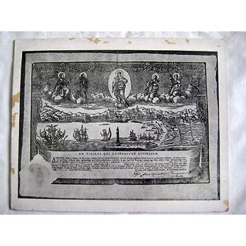 Antigua Tarjeta - Old Card: LOS GUARDIANES QUE CUSTODIAN LA CIUDAD