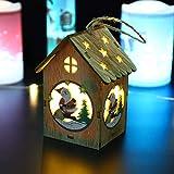 Natale Decorazioni Rovinci Ciondolo Luminoso Cabine Decorazioni Natalizie Luce a Led Cabine luminose Pendente Ornamenti per la tavola di Natale Ornamenti LED Light Chalet Hotel Bar Decorazione