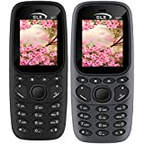 GLX W22 Pack Of 2 Dual Sim Basic Feature Mobile Phone (Grey+Black)