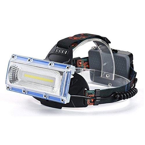 pe Scheinwerfer High Power COB führte weiß blau rotes Licht Scheinwerfer 3 Modus USB Notfall Scheinwerfer LED-Licht Nacht Licht ()