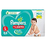 Pampers baby-dry pants style diapers are the only pants in India with new air channels providing your baby a new type of dryness overnight, breathable dryness, magic gel that locks wetness away for up to 12 hours of dryness the new and improved produ...