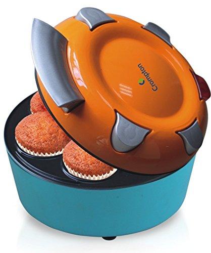 Crompton ACGT-CKM71-I 700-Watts Mini Cup Cake Maker (Orange/Blue)