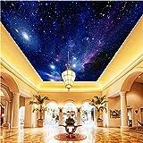 Mznm Custom Fototapete Starry Sky Night View Deckenleuchte Wandbild Modern Art Wohnzimmer Küche Wandbild Papier Wandbild E 3D 400x280cm