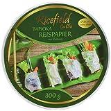 Ricefield Tapioka-Reispapier, rund 22 cm, Premiumqualität, 2er Pack (2 x 300 g Packung) -