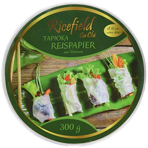 Rand Lagerung (Ricefield Tapioka-Reispapier, rund 22 cm, Premiumqualität, 2er Pack (2 x 300 g Packung))