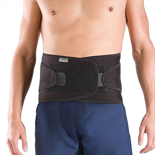 Cinturón Faja Ajustable Para Espalda PhysioRoom - Banda Soporte Lumbar Correctora de Postura y Rehabilitación Disco Ciática - Talla L