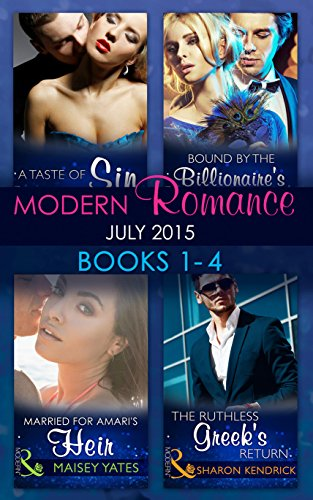 book cover of Modern Romance July 2015 Books 1-4