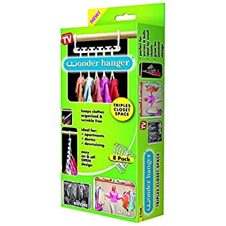 As Seen On TV Wonder Hangers - Save Space In Your Wardrobe And Cloakroom Closet - by PRIMEFURNISHING.CO.UK