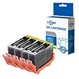 ECSC kompatibel Tinte Patrone Ersatz für HP Deskjet 3070A 3520 Photosmart 5510 5510 5512 5514 5515 5520 5522 5524 5525 6510 6520 6525 7510 7520 B010a B109a B109c B109d 364XL (Schwarz, 4-Pack)