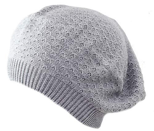 Piccarda Baskische Sommer Frau Mütze, Sommer Baumwollkappe, Hut für Mädchen, Made in Italy, Weicher und eleganter Hut (Grau)