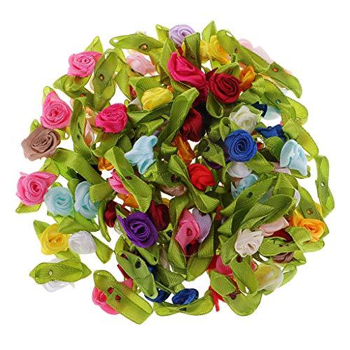 P Prettyia 100 Stücke Mini Künstliche Seidenblumen Kunstblumen Blüten Wohnaccessoires Blumen...