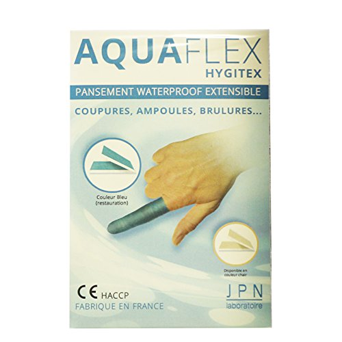 Preisvergleich Produktbild Aquaflex hygitex Pflaster Waterproof ausziehbar Farbe blau 30 x 6 cm