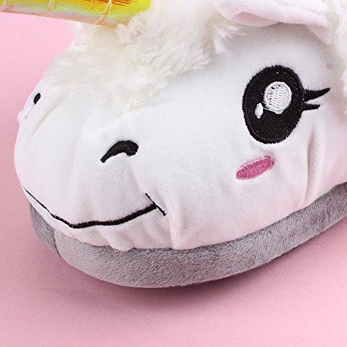Inverno Casa Donne Di 35 Caldo E Pantofola Scarpe Felpa Unicorno 41 Yumomo Pantofole Uomini Emoji Pistoni Formato 1UWxvzqwx