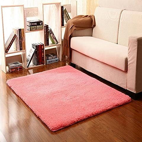 Casa Continental ultra suaves alfombras gruesas almohadillas de lana hermoso salón y dormitorio con literas deriva lateral en el panel de las alfombras de entrada ,40*60cm, Rosa