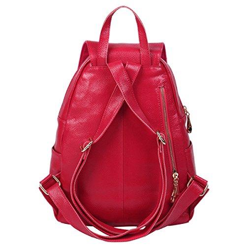 HAOYUXIANG Moda Elegante Zaino Di Vita Bracciale Di Temperamento,Black Red