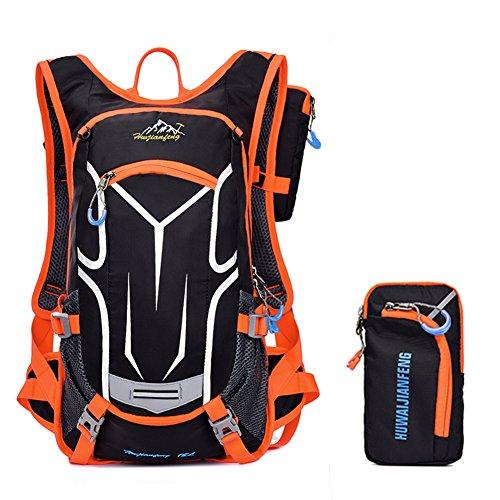 18L Imprägniern einen.Kreislauf.durchmachenrucksack Atmungsaktiver Wanderrucksack Leichter Rucksack für Reise Klettern Radfahren Laufen Camping Im Freiensport-Schulter-Rucksack Hydratation Wasser Tasc Orange