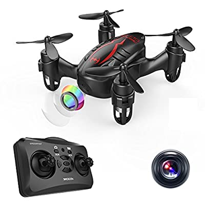 DROCON HACKER Drone- Thumb Size RC Quadcopter Micro Mini Drone with 720P HD Camera, Headless Mode, Easy to Trim, 360 Degree Flip - Play For Fun Level