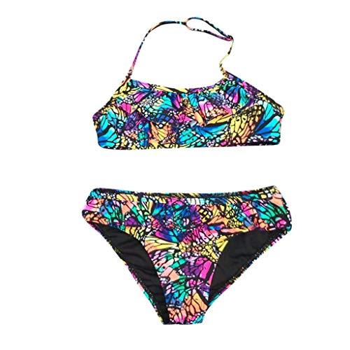 Mitlfuny Bañador Conjuntos Ropa bebé Traje de Baño Niña Playa Piscina Dividir Bikini Mariposa Impresión...