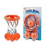Giocattoli da Bagno Canestro da Basket per Bambini e Bambino con 3 Palline, Gioco di tiro a Segno per Ragazzi e Ragazze