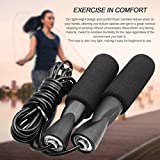 #6: Flyngo Skipping Speed Jump Rope with Soft Memory Foam Handle, Rapid Ball Bearings for Cardio Workouts Fat Burning Exercises & Boxing Fitness