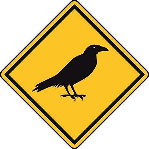 Preisvergleich Produktbild U24 Aufkleber Vorsicht Rabe Krähe Autoaufkleber Sticker