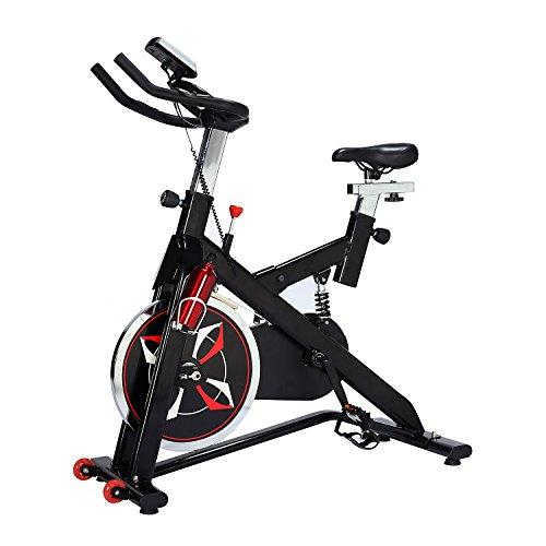 Homcom Vélo d'appartement Cardio vélo Biking écran Multifonction Selle et Guidon réglables...