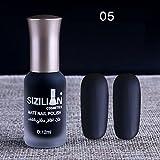 samLIKE Nagellack, 12ml Matte dull Nagellack schnell trocken langlebig Nail Art Matte Nagellack Gel (E)