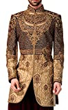 INMONARCH Indo occidental Hommes d'or Indien Mariage IN04290S54 64 or 7XL (hauteur 163 cm bis 170 cm) D'or