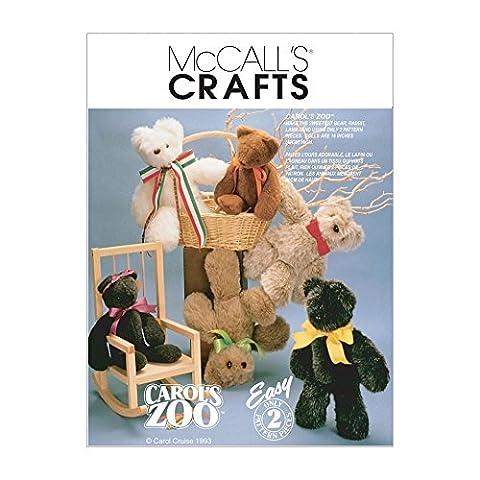 McCalls 6188Patron de couture d'ours en peluche + guide de couture (français non garanti)