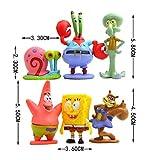 ONOGAL Spongebob figures collection set of 6 characters Spongebob Squidward Patricio Lord Cangrejo Arenita and Gari 4675