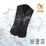 Vinmori Elektrische Beheizte Weste, Waschbare Größe Einstellbar USB-Lade Erhitzt Polaren Fleece Kleidung Winter Warme Weste (Schwarz)... - 5