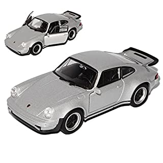 alles-meine.de GmbH Porsche 911 Turbo G-Modell Coupe Silber 1973-1989 ca 1/43 1/36-1/46 Welly Modell Auto