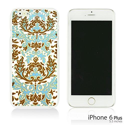 OBiDi - National Paintings Hardback Case / Housse pour Apple iPhone 6 Plus / 6S Plus (5.5)Smartphone - Colorful Elephant ArtWork Blue Floral Pattern