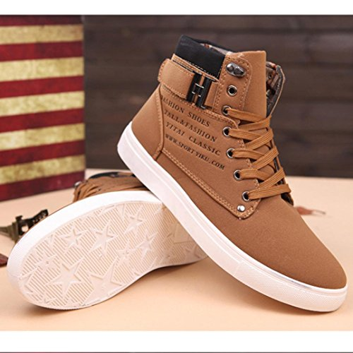 FNKDOR Moda para hombre Oxfords Casual High Top Shoes Sneakers Shoes