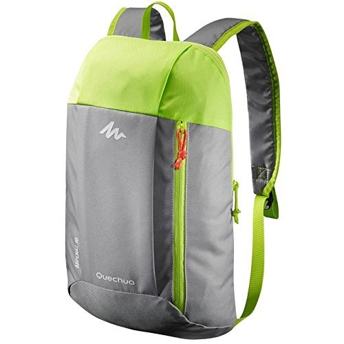 Quechua Premium Quality Ultra compact light weight Back Pack Grey and Green Colour For Hiking and Picnic 10 Lts  available at amazon for Rs.319