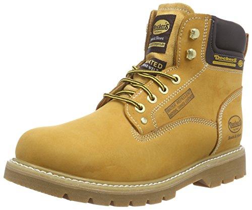Dockers 23DA104 - Botas de Cuero para Hombre, Color Beige, Talla 41
