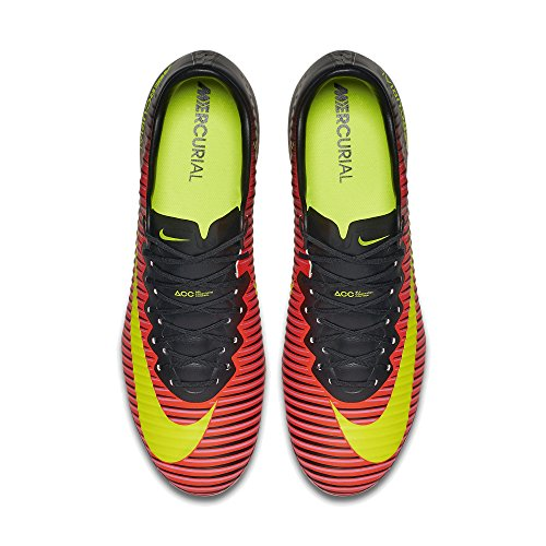 Nike Mercurial Vapor Xi Fg, Chaussures de Foot Homme Orange - Naranja (Total Crimson / Vlt-Blk-Pnk Blst)