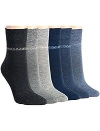 Vitasox Damen Socken Baumwolle einfarbig Jeans Grau Damensocken ohne Naht ohne Gummi 3er, 6er oder 12er Set