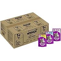 Whiskas Katzen-/Nassfutter Multipack Adult 1+ für Erwachsene Katzen Fisch und Geflügelauswahl in Gelee, 84 Portionsbeutel (84 x 100 g)