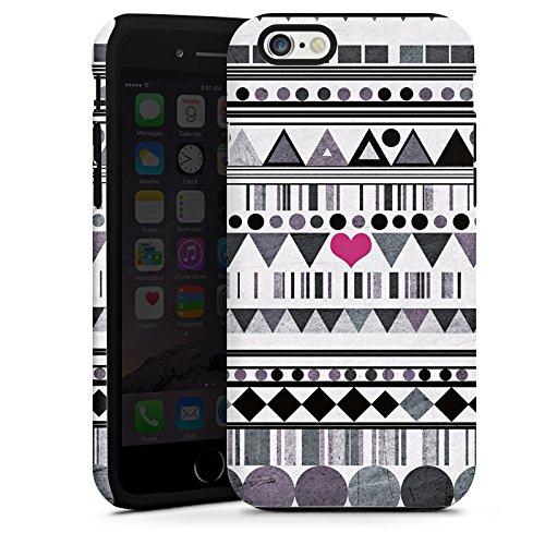 Apple iPhone 5 Housse Étui Silicone Coque Protection Motif Motif C½ur Cas Tough terne