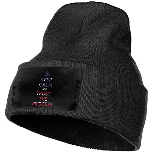Fashion New warm Unisex Unisex Keep Calm and Trust The Process American Flag Outdoor Fashion Knit Beanies Hat Soft Winter Skull Caps (Girl American Kit Outfit School)