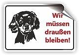 Hunde müssen draußen bleiben / Keine Hunde / T-011 (30x20cm Aufkleber)