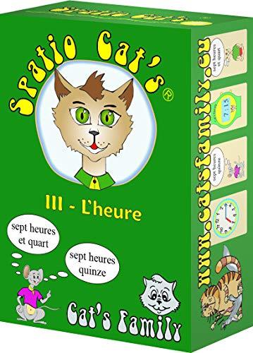Cat's Family E453 - Juego de Cartas, Color Verde