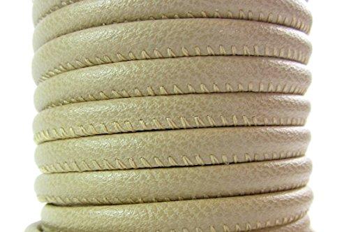 Beige Nappa-leder (Lovely Lauri Lederband Nappa Leder rund gesäumt 50 cm 4 mm beige (5,00 Euro/Meter))