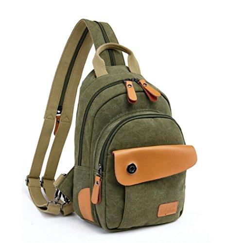 F@Männer und Frauen Rucksack Schulter Brustbeutel, Multifunktions-Schulter-Kurier Tasche männlichen und weiblichen Paar kleiner Teil light green