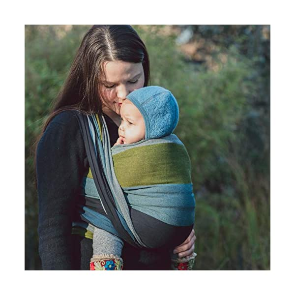 Hoppediz Woven Baby Sling (460 x 70 cm, Aberdeen) Hoppediz Suitable from birth until parent or child chooses to stop carrying 100% cotton Special broken twill weave 4
