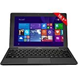"Thomson 2EN1 Dock 10P Tablette Tactile 10"" (25,4 cm) (64 Go, Windows 8.1 pro, 1 port USB 3.,0 1 Prise jack, Noir)"
