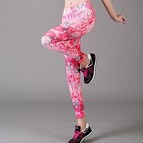 Unory (TM) di allenamento sport fitness Slim leggings per femmina