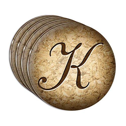buchstabe-k-auf-kork-design-acryl-untersetzer-set-von-4